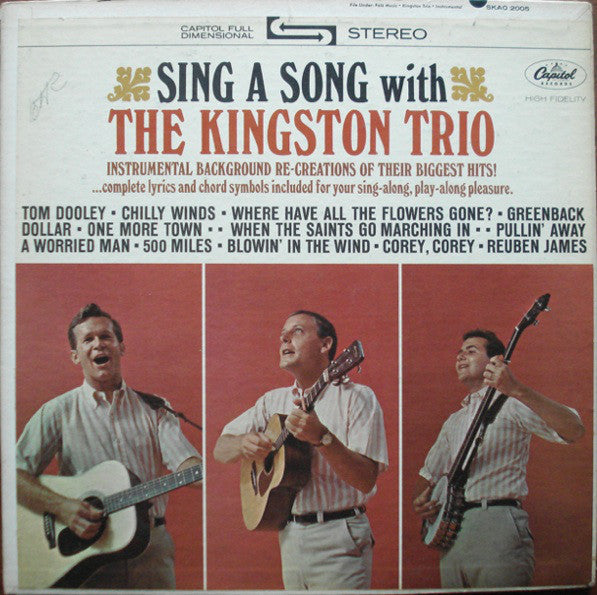 Kingston Trio, The - Sing A Song With The Kingston Trio - Pre-owned Vinyl