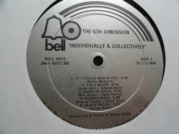 5th Dimension, The - Individually & Collectively - Pre-owned Vinyl - Covert Vinyl