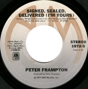 Peter Frampton - Signed, Sealed, Delivered 45 RPM - Pre-owned Vinyl