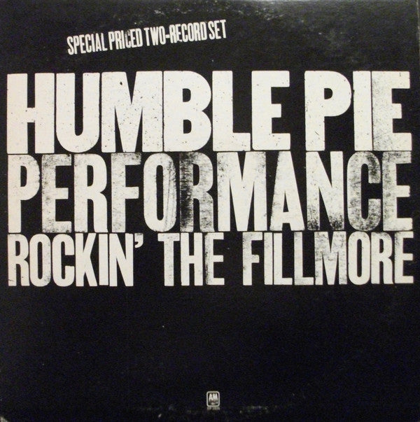 Humble Pie - Rockin' The Fillmore - Pre-owned Vinyl