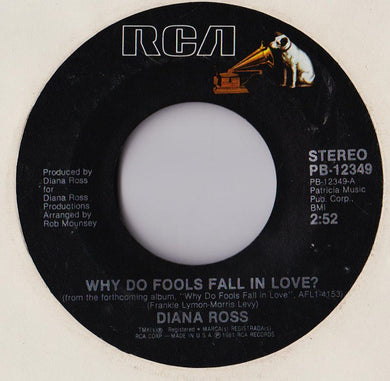 Diana Ross - Why Do Birds Fall In Love - 45 rpm - Pre-owned Vinyl