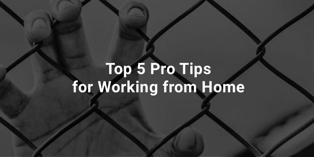 Top 5 Pro Tips for Working from Home