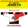Sublimated Reversible Hockey Jersey -  Your Design