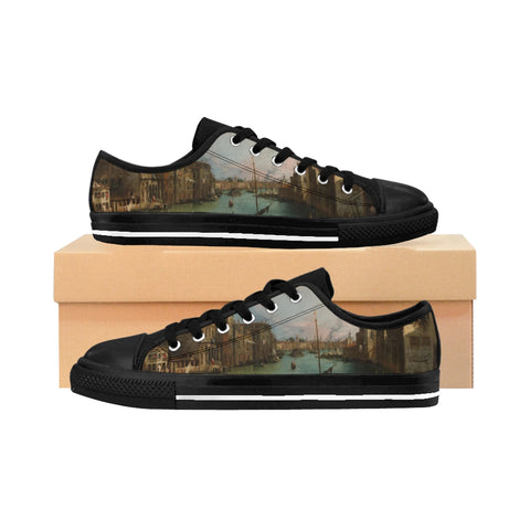 ''CANALETTO, VENICE'' Women's Sneakers - artforshoes