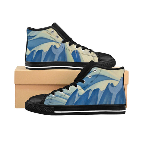 Harris's ''Lake and Mountain'' Women's High-top Sneakers - artforshoes
