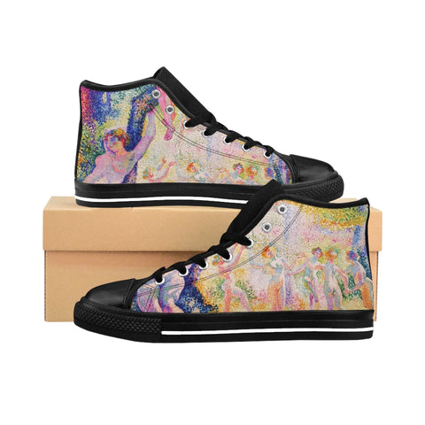 Henri-Edmond Cross's ''The Glade'' Women's High-top Sneakers - artforshoes