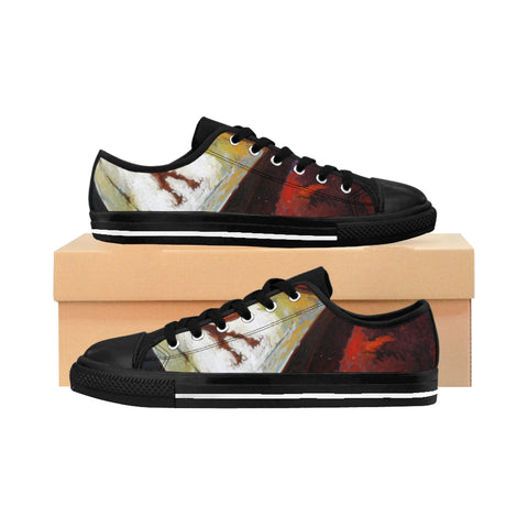 '' THE SHADOW AND THE NIGHT'' Women's Sneakers - artforshoes