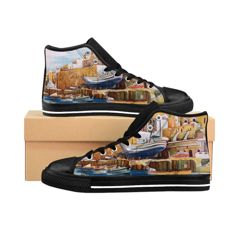 ''Old Jaffa'' Women's High-top Sneakers - artforshoes