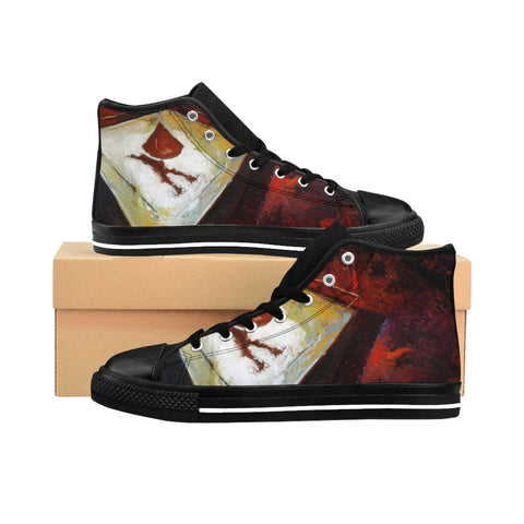'' The Shadow and the Night'' Women's High-top Sneakers - artforshoes