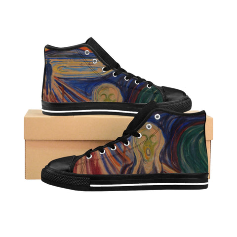 Edvard Munch's ''The Scream'' Women's High-top Sneakers - artforshoes