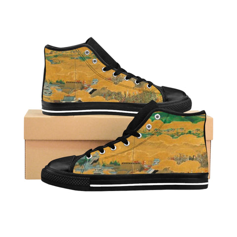 ''The Siege of Osaka'' Women's High-top Sneakers - artforshoes