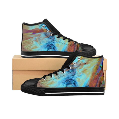 ''Maddona with the child in heaven light'' Women's High-top Sneakers - artforshoes