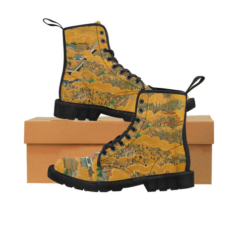 ''THE SIEGE OF OSAKA''  Women's Martin Boots - artforshoes