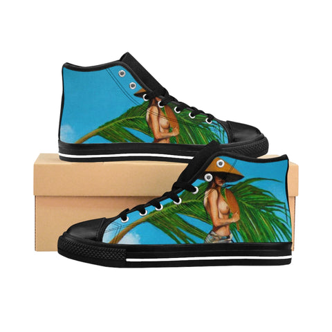Alex Ferrar's ''Samsara'' Women's High-top Sneakers - artforshoes