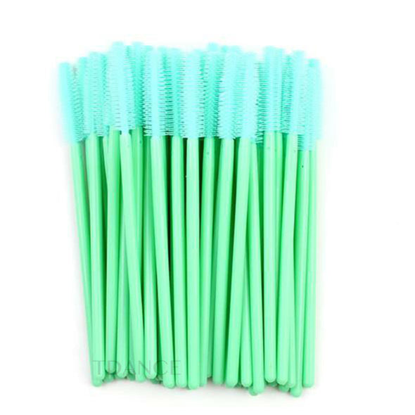 NEW SILICONE MASCARA EYELASH BRUSH 50PCS/PACK