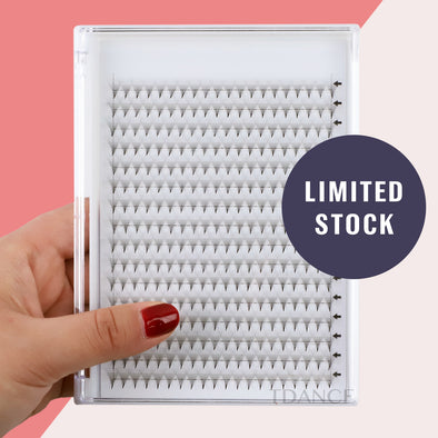 (320 FANS)16 ROWS BLANK CARD 12D PRE-MADE VOLUME FANS LASHES (pointy base)