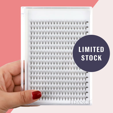 (320 FANS)16 ROWS BLANK CARD 14D PRE-MADE VOLUME FANS LASHES (pointy base)