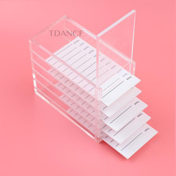 5 LAYERS EYELASH STORAGE BOX TRANSPARENT