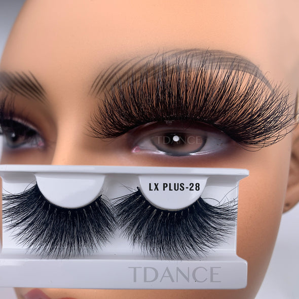 25MM 3D Mink Lashes LXPLUS28(Paper Box Without Logo)