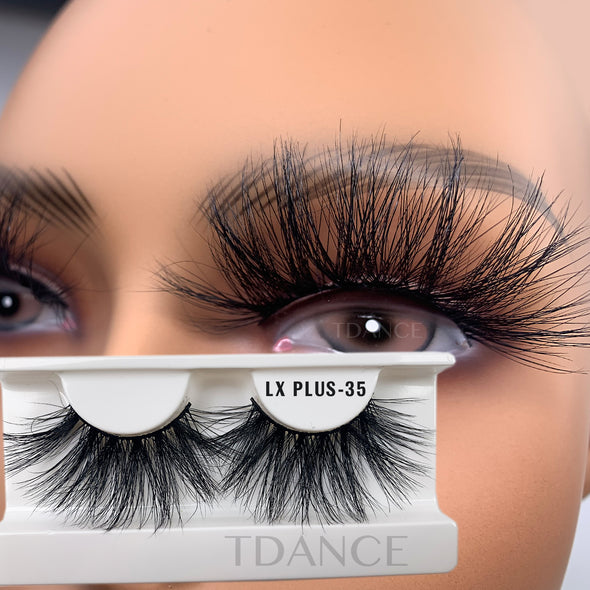 25MM 3D Mink Lashes LXPLUS35(Paper Box Without Logo)