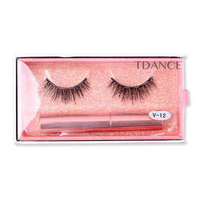 Magnetic Eyelashes with Eyeliner V-12