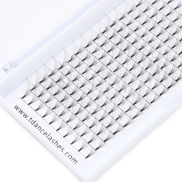 16 Rows 6D PRE-MADE VOLUME FANS LASHES  (short stem) (3929193971800)