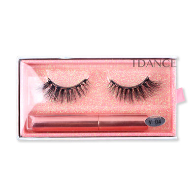 Magnetic Eyelashes with Eyeliner V-04
