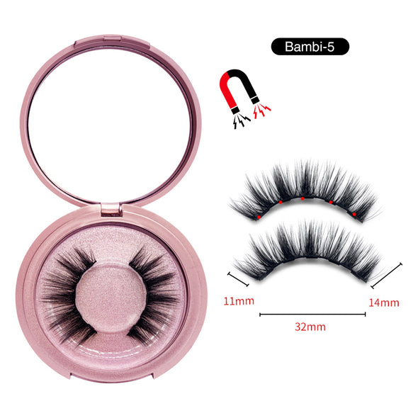 Magnetic Eyelashes with Eyeliner Kit Bambi-5 (4603680227416)