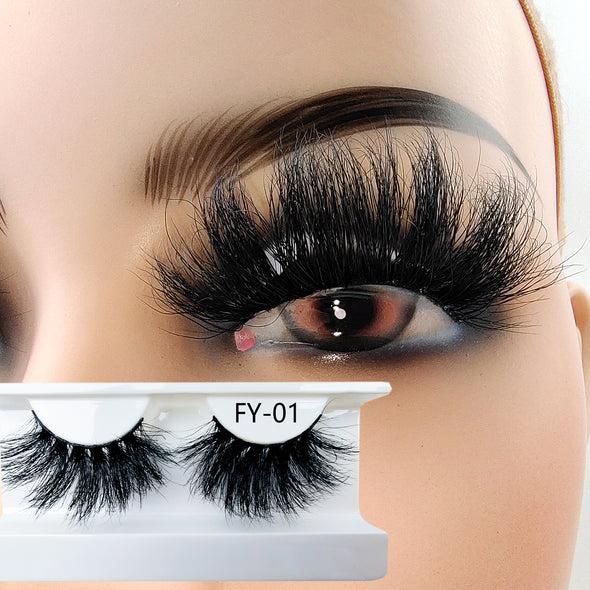 25MM 3D Mink Lashes FY-01(Paper Box Without Logo)
