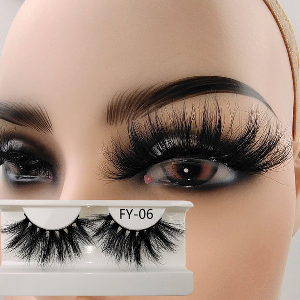 25MM 3D Mink Lashes FY-06(Paper Box Without Logo)