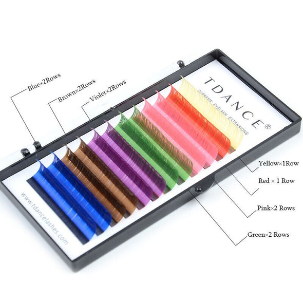 TDANCE COLORFUL LASHES  EXTENSION  0.07MM (4163997466712)