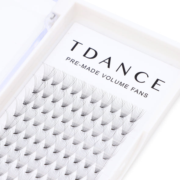 10D PRE-MADE VOLUME FANS LASHES  (short stem)