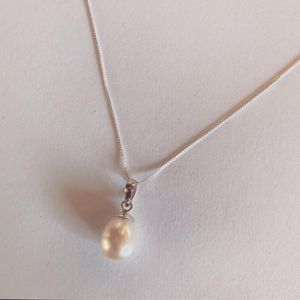 Pearl on Sterling Silver Chain