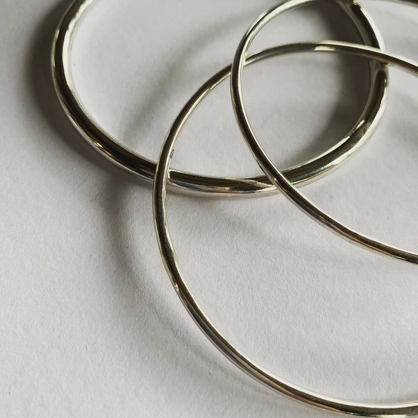 Solid Sterling Silver 2mm Bangle