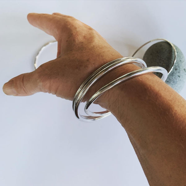 Solid Sterling Silver 4mm Bangle