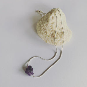 Amethyst on Snake chain