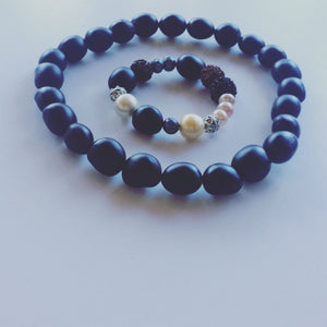 Black Seed Beads and Feature Bracelet