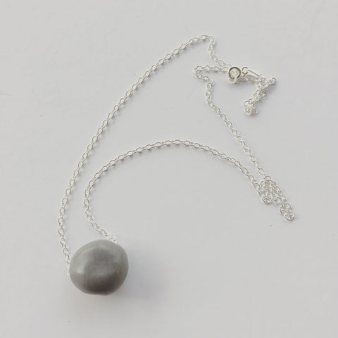 Sea Pearl Seed on Sterling Silver Chain