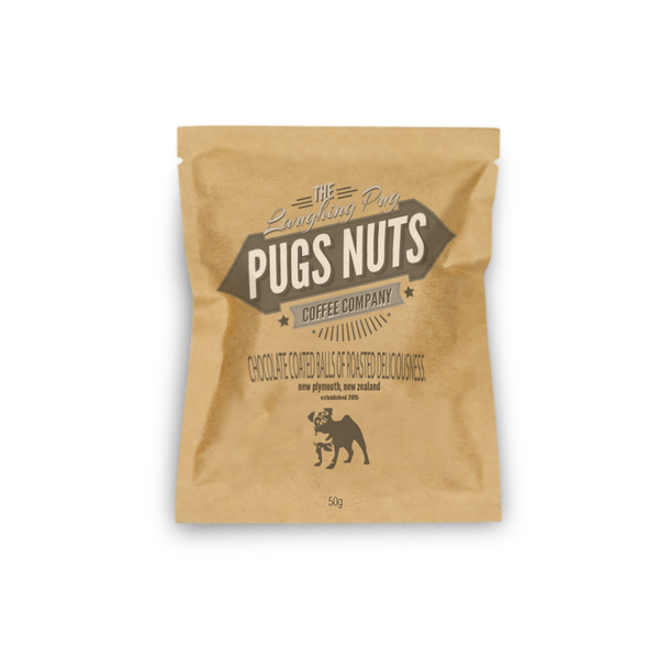 """The Pugs Nuts"" Premium Dark Chocolate Coated Coffee Beans"