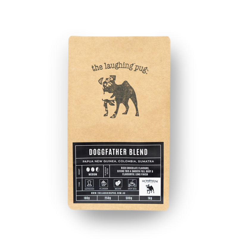The Laughing Pug's Premium Whole Coffee Beans