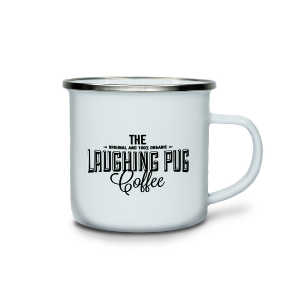 Laughing Pug Enamel Mug