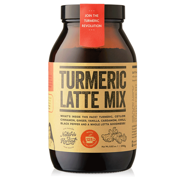 Turmeric Latte Mix 125 Serves 250g Glass Jar