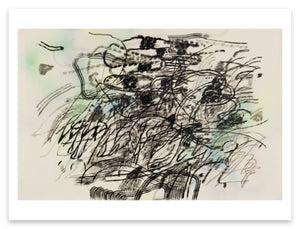 Julie Mehretu <i>Mind-Wind Fusion Drawings #3</i> Postcard