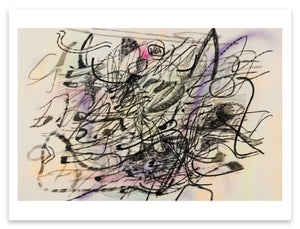 Julie Mehretu <i>Mind-Wind Fusion Drawings #4</i> Postcard
