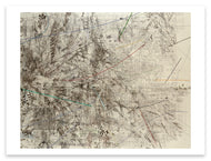 Julie Mehretu <i>Mogamma (A Painting in Four Parts): Part 2</i> Postcard
