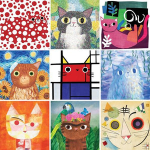 Artsy Cats:  500-Piece Jigsaw Puzzle