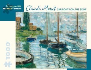 Monet: Sailboats on the Seine 1,000-Piece Jigsaw Puzzle
