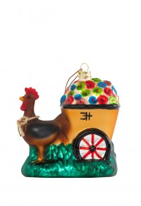 Ornament Clementine Hunter Gooster Hauling Flowers