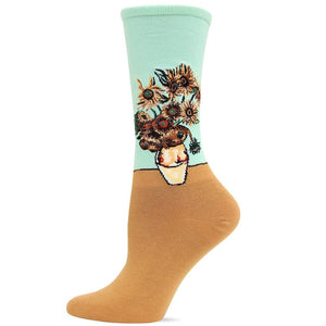 Van Gogh's Sunflowers Socks Women