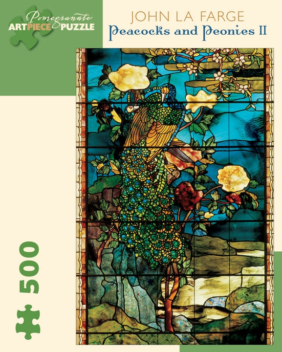 John La Farge: Peacocks and Peonies 500-Piece Jigsaw Puzzle